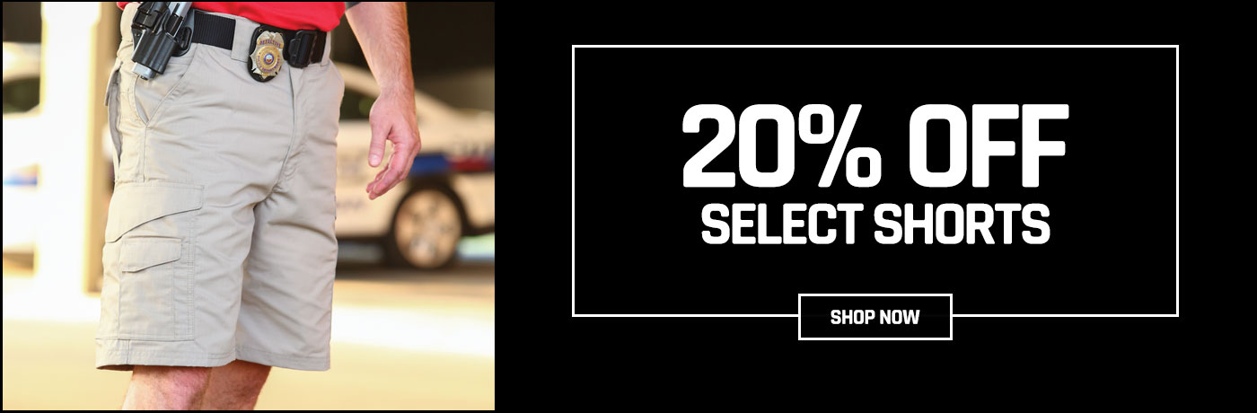 20% off shorts