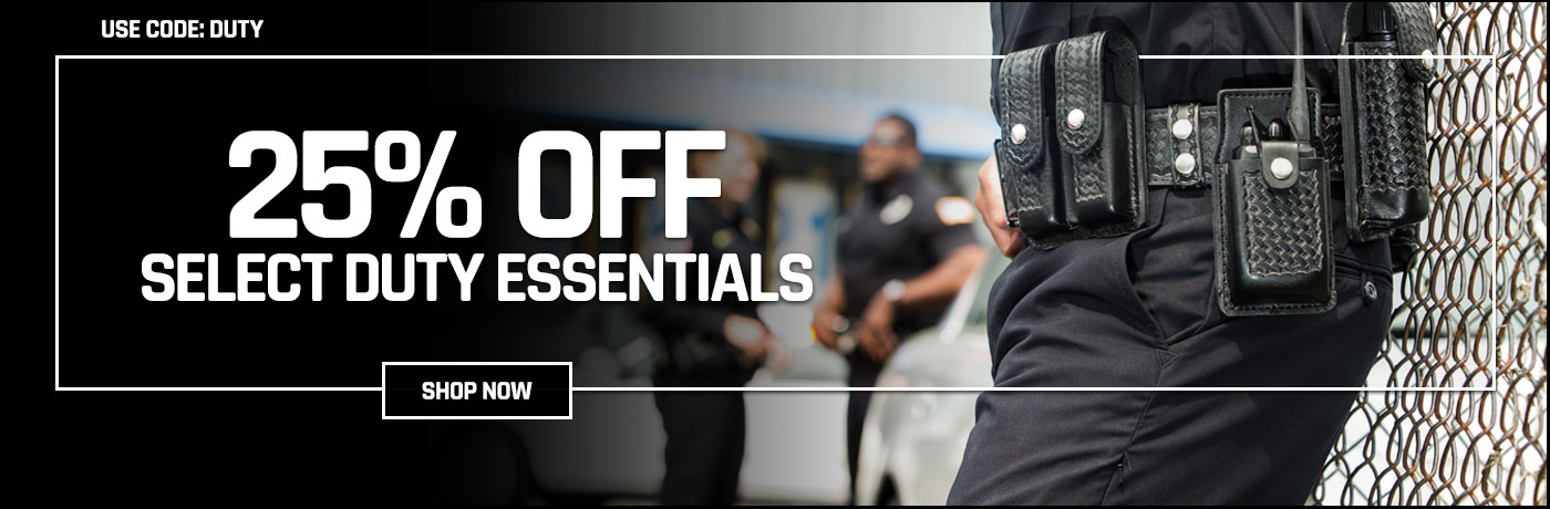 25% off select duty essentials