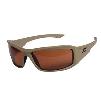 4c4a15c144 Edge Eyewear Hamel Sand Thin Temple Polarized Safety Glasses